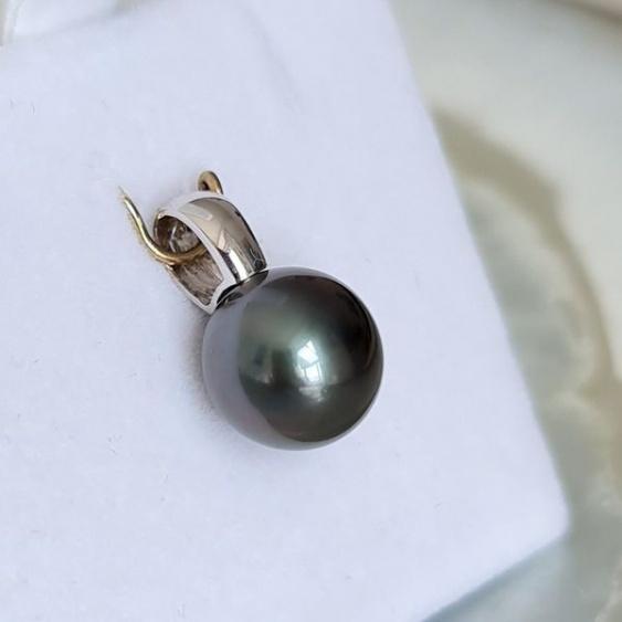 Belle de Nuit - Pendentif Or Blanc 18 carats et Perle de Tahiti