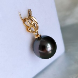 My LÔve- Pendentif Or Jaune 18 carats et Véritable Perle de Tahiti