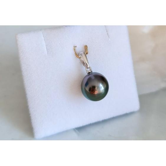 Belle de Jour - Pendentif Or Blanc 18 carats et Perle de Tahiti