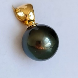 Lady Beauty - Pendentif Or 18 carats et Véritable Perle de Tahiti