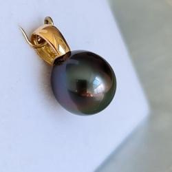 Belle de Nuit - Pendentif Or 18 carats et Perle de Tahiti