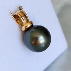 Gold & Black - Pendentif Or Jaune 18 carats et Perle de Tahiti
