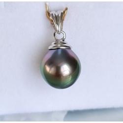 Hina Poe - Pendentif Or 18 carats et Véritable Perle de Tahiti