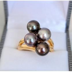 Bellissima - Bague Or et Véritables Perles de Tahiti
