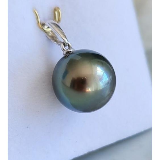 Avec Plaisir ! - Pendentif Or Blanc 18 carats et Perle de Tahiti