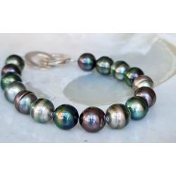 Manuia - Bracelet en Véritables Perles de Tahiti